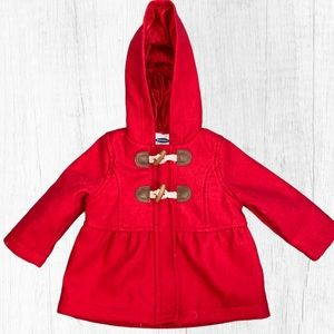 Old Navy Red Toggle Peacoat Infant Size 3-6 Months